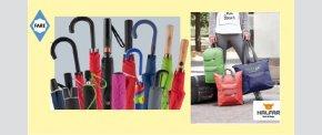 FARE og HALFAR - paraplyer og tasker