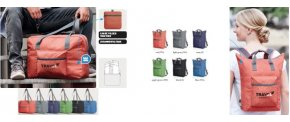 Sammenfoldelig taske og rygsæk