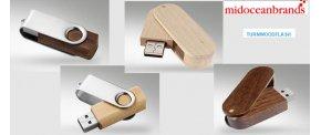 TWISTER USB stick i træ