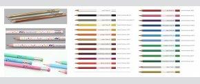 Flotte lakerede blyanter i 26 standardfarver