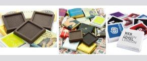 Få firma logoet på kvadrat chokolade NEAPOLITAN
