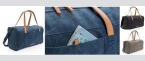 Rejse/weekendtaske i PVC fri kanvas