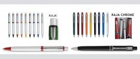 RAJA og RAJA CHROME kuglepenne med stor refill