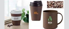 Krus fremstillet bl.a. af materialer fra kaffeplanter.
