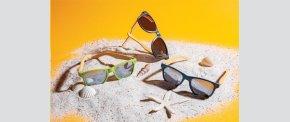 Solbriller af hvedestrå og bambus