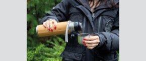 Bambus vakuum rejseflaske